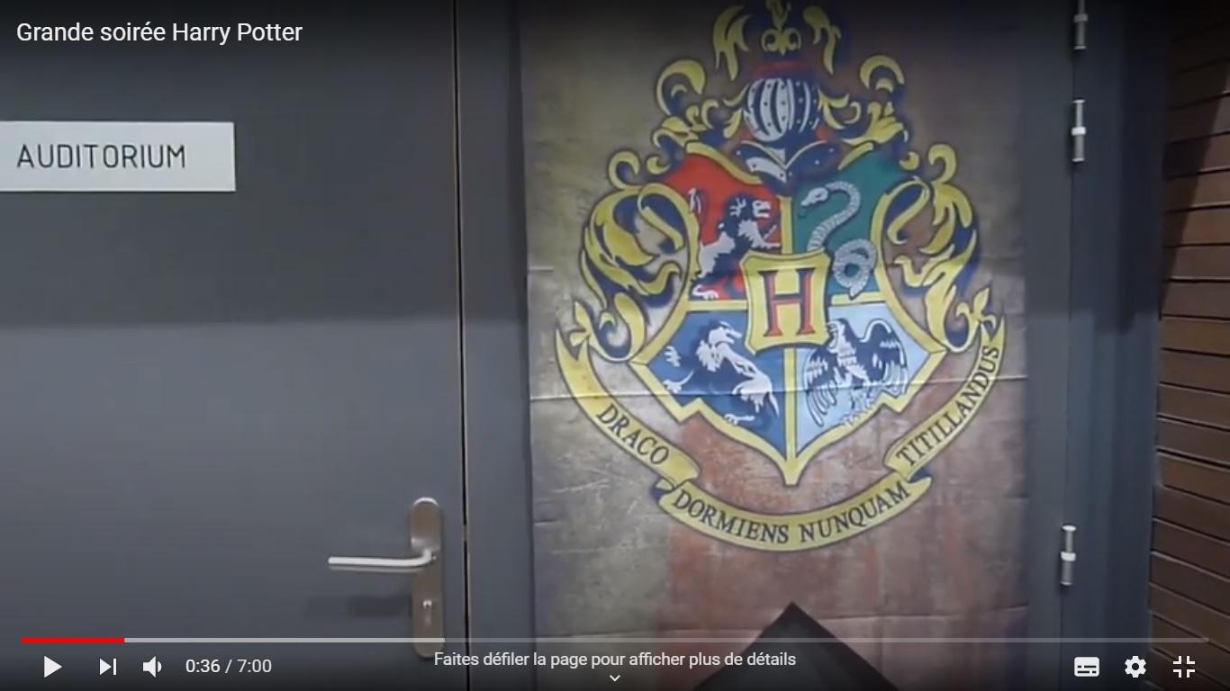 Vidéo Soirée Harry Potter à la Médiathèque entre dore et Allier