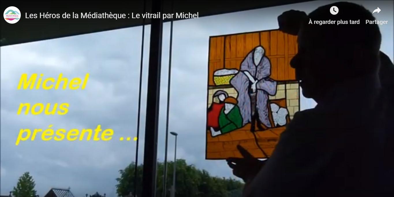 Vidéo atelier vitrail à la Médiathèque entre Dore et Allier